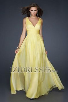 Sheath/Column V-neck Chiffon Evening Dress - IZIDRESSES.COM at IZIDRESSES.com
