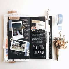 1,965 個讚,34 則留言 - Instagram 上的 PC ✄(@pooi_chin):「 💐   #travelersnote #travelersnotebook #notebook #scrapbook #stationery #planner #diary… 」
