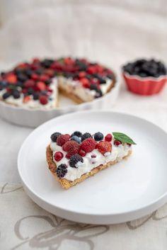 Tarta z mascarpone i owocami przepis | Sprawdzona Kuchnia Waffles, Sweets, Baking, Breakfast, Health, Cakes, Food, Mario, Recipes