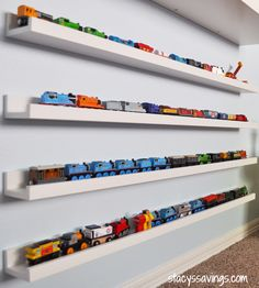 Toy Train Storage or dolls or books or cars, the list is endless! - Make your own decoration - Toy Train Storage or dolls or books or cars, the list is endless! Hot Wheels Display, Hot Wheels Storage, Do It Yourself Decoration, Kids Storage, Storage Ideas, Toy Car Storage, Baby Storage, Storage Organization, Home Organization