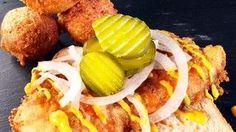 Nashville Hot Fish with Hushpuppies Recipe | The Chew - ABC.com