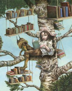 Busca un lugar agradable para leer… (ilustración de Roger Olmos)
