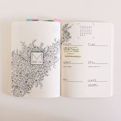 "484 Likes, 21 Comments - Nina's Bujo (@ninasbujo) on Instagram: ""Sooooooooo.. the plan was to fill the entire page with flowers but that turned out to be a lot of…"""