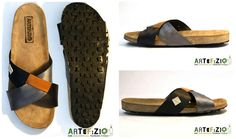 #Corks, #Innertube, #Recycled, #Shoes Our sandals are designed inside Artefizio lab. The handcrafted/traditional technique is revolutionized by the introduction of materials, which re-thought, gain new life. Bicycle tire, inner tubes, leather wastes, jeans, tissues coming from old