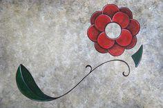 """""""Florada no Outono"""" Pintura em papel do artista plástico brasileiro Quim Alcantara Acrílica sobre papel, 30 x 21 cm, março 2013. http://quim.com.br/florada-no-outono/"""
