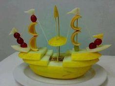 Идеи подачи фруктов на детские праздники