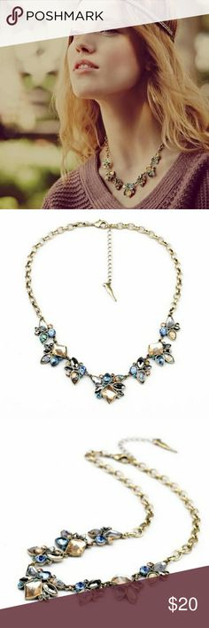 Boho Crystal Statement Necklace Beautiful boho multi color crystal statement necklace. Material: Zinc, Resin, Crystal. I have matching earrings, bracelet and ring. Ask me to share them to your wardrobe. Jewelry Necklaces