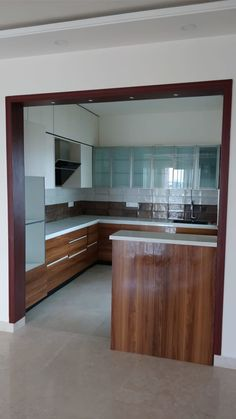 kitchen: Kitchen units by SSDecor, Modern Engineered Wood Transparent Kitchen Modular, Kitchen Units, Small Unit Kitchens, Kitchen Design Open, Interior Design Kitchen, Küchen Design, Layout Design, Design Ideas, Küchen In U Form
