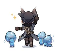 Dark Blood, Old Blood, Kodama Tattoo, Chibi Games, Bloodborne Art, Dark Souls Art, Soul Game, Cute Games, Knight Armor