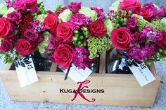 add in some orange. - Wedding Day Pins : You're Source for Wedding Pins! Fuschia Wedding Flowers, Rose Wedding Bouquet, Green Flowers, Green Wedding, Wedding Colors, Beautiful Flowers, Green Bouquets, Flower Colors, Beautiful Bouquets