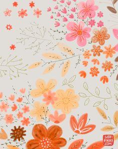 print & pattern: DESIGNER - dinara mirtalipova Yes. Textile Patterns, Flower Patterns, Print Patterns, Pattern Illustration, Illustrations, Surface Pattern Design, Background Patterns, Pattern Wallpaper, Iphone Wallpaper