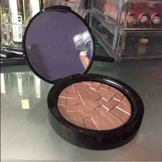 ABH Anastasia beverly hills illuminator, Riviera Highlighter. Used only once. 100% authentic. A rose gold color. WILL TRADE for becca opal pressed or ABH so hollywood Anastasia beverly hills Makeup Luminizer