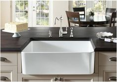 Check out this amazing site for quality kitchen and bath items, including Fireclay Farm Sinks!  http://www.bluebath.com/