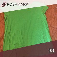 Green scoop neck tee Essential crew AO GAP Tops Tees - Short Sleeve