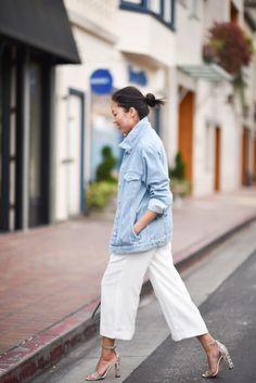 Oversized Jean Jacket + Culottes