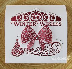 Blog tonic: Winter Wishes - card from RUTH