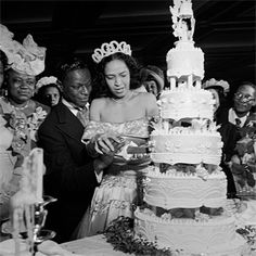Nat King Cole & Maria Hawkins Ellington, 1948  The two singers wed at Abyssinian Baptist Church in Harlem.