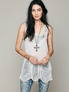 Free People Embroidered Tunic Top at Free People Clothing Boutique