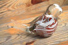 Glass Bird Bird Ornament Collectible Art Glass by AfriArtisan