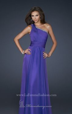 2014 New Style Chiffon evening gown by La Femme Dresses [17718]