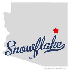 Map of Snowflake Arizona AZ