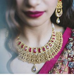 Bridal Diaries with Tanishq Rivaah Wedding Jewelry in Mumbai Indian Wedding Jewelry, Indian Jewelry, Bridal Necklace, Bridal Jewelry, Gold Necklace, Stylish Jewelry, Fashion Jewelry, Tanishq Jewellery, Gold Jewellery Design