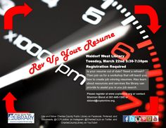 Join us @ Waldorf West and Rev Up Your Resume!