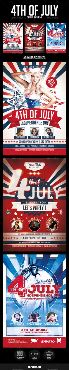 4th of July Independence Day Flyer Event flyers and Flyer template - independence day flyer