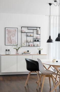 Sideboard Design, Sideboard Modern, Sideboard Decor, Ikea Living Room, Interior Design Living Room, Living Room Designs, Dining Room, Ikea Interior, Home Interior