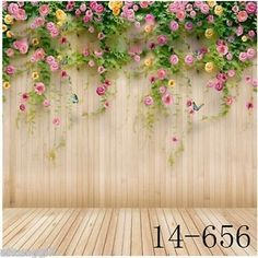 8x8FT Vinyl Backdrop Photographer,Floral,Damask Pattern with Flowers Background for Baby Birthday Party Wedding Studio Props Photography