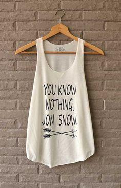 Tu non sai niente Jon Snow freccia camicie di Teegethershop