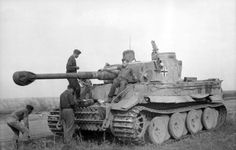 WWII Rare Footage of German Heavy Panzerkampfwagen Tiger Tank