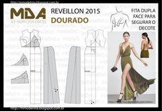 Mod@ en Line@ Evening Dress Patterns, Wedding Dress Patterns, Easy Sewing Patterns, Clothing Patterns, Fashion Sewing, Fashion Fabric, Sewing Clothes, Diy Clothes, Costura Fashion