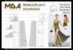 ModelistA: A3 NUMo 0159 DRESS - REVEILLON COR DOURADO