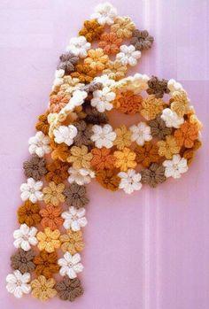Clube do Crochê: Cachecol Flores (com gráfico)