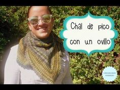 Chal de pico con un solo ovillo / TUTORIAL - YouTube