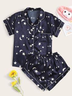 Girls Fashion Clothes, Teen Fashion Outfits, Girly Outfits, Cute Casual Outfits, Girl Fashion, Cute Pajama Sets, Cute Pjs, Cute Pajamas, Cute Sleepwear