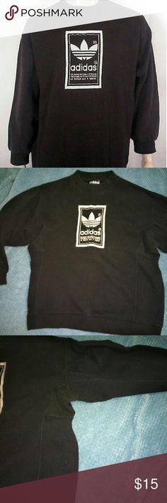 Vintage Adidas Sweatshirt Vintage 90's German logo sewn trefoil reverse weave. Pretty cool sweatshirt!Hard to find! Unisex.Shorter type crew sleeves. Adidas Shirts Sweatshirts & Hoodies