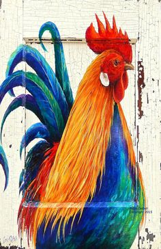 Your place to buy and sell all things handmade Rooster Painting, Rooster Art, Rooster Decor, Chicken Painting, Chicken Art, Pallet Painting, Pallet Art, Gallus Gallus Domesticus, Sell My Art