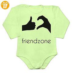 Official Friendzone Logo Baby Long Sleeve Romper Bodysuit Small - Baby bodys baby einteiler baby stampler (*Partner-Link)