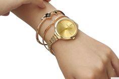 Women Watch Bangles Set Gold Metal luxury Dress Watches Lady Quartz Wrist Watc #LIANDU #DressFormal