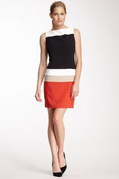 Sandra Darren Boatneck Colorblock Dress by Non Specific on @HauteLook