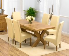 Chunky Solid Oak Dining Table and 6 Chairs - Go to ChineseFurnitureShop.com for even more amazing furniture and home decoration tips!