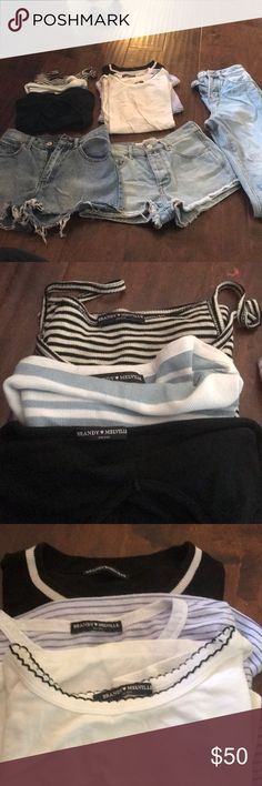 Brandy Melville  lot Everything has been used once or twice only Brandy Melville Tops Crop Tops