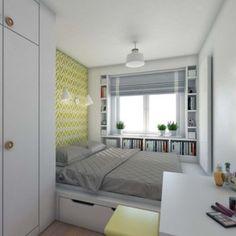 Studio Apartment Layout, Small Apartment Interior, Home Room Design, Home Interior Design, Girl Bedroom Designs, Tiny Apartments, Woman Bedroom, Kids Bedroom Furniture, Small Room Bedroom