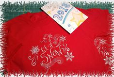 Let it Snow Christmas and New Year Machine Embroidery Design