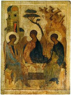 Trinità dell'Antico Testamento. Fine XV-inizi XVI secolo. Mosca. Rublëv Museum of Early Russian Art. Moscow