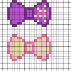 MLP Twilight Sparkle and_Fluttershy Bows perler bead pattern by FluffyPickles