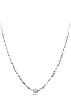 David Yurman 'Petite Pavé' Necklace with Diamonds available at #Nordstrom