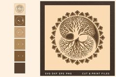 Tree of Life svg, Cut file, Multilayer, Layered svg, Laser example image 1 Vector File, Eps Vector, Back Art, Logo Background, Scene Creator, Pattern And Decoration, Line Design, Journal Cards, Tree Of Life